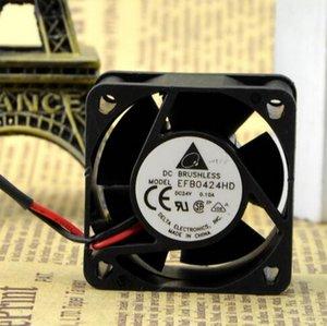 دلتا EFB0424HD 40 * 40 * 20 24V 0.1A 4CM 2 خط مزدوج الكرة مروحة العاكس