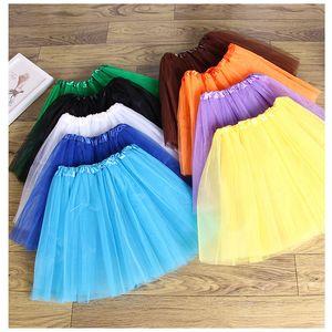 Niñas bebés Niños Ropa de baile Tutu Falda Pettiskirt Dancewear Vestido de ballet Faldas de disfraces Falda de gasa para 3-10 T