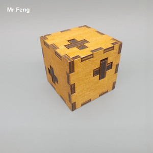 Çapraz Kutu Ahşap Klasik Oyuncaklar Çocuk Oyunları Için Kong Ming Kilit Bulmaca