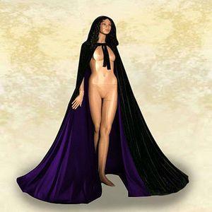 Wedding Cloak Hooded Velvet Cloak Gothic Vampire Wicca Robe Medieval Larp Cosplay Cape Women Wedding Jackets Wraps Coats Capes Plus Size