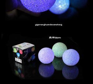 1PCs 미니 크리스탈 공 모양 색상 변경 밤 빛 웨딩 파티 장식 Led 램프 밤 빛
