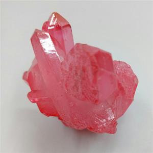 85 جرام هالة الطبيعية ملاك الكوارتز الكريستال مجموعة الطلاء الوردي الكريستال حجر العنقودية ريكي الشفاء كهدية