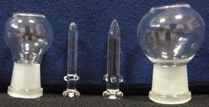 Belle recycleur Bongs verre huile Dab Rig Dôme en verre soufflé à la main et ongles Pipes à eau 10mm 14mm 18mm Bol en verre Narguilé Pipes