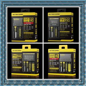 100% оригинал аутентичные Nitecore I2 I4 D2 D4 Универсальное Intelli зарядное устройство ЖК-дисплей 18350 18650 Зарядное устройство для ИПВ d5 ИПВ 5 коробки мод DHL