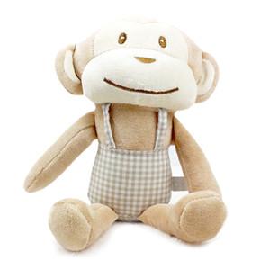 Nuovo arrivo Baby Plush Pleasy Scimmia giocattolo bambola infantile Sleeping Accompany Partner Comforting Rattle giocattoli bambola