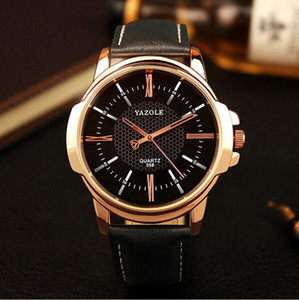 2016 YAZOLE 358 watch Brand Luxury Famous men watches Fashion leisure Dress Quartz Watch Business leather