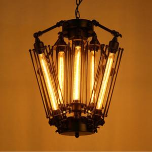 New American Retro Pendelleuchten Industrielampe Loft Vintage Restaurant Bar Insel Alcatraz Edison Lampe Hängelampe