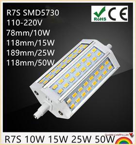 10шт R7S LED 7W | 78мм 118мм | 12W 135мм | 15W J118 J78 J135 LED R7S DIMMABLE 5730 кукурузы лампы галогенные Прожекторы