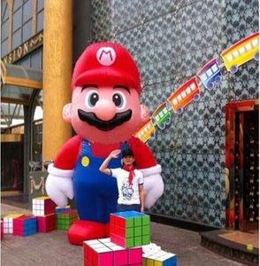 новый дизайн классического стоя водопроводчик Марио надувной мультипликационный персонаж для бизнеса