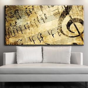 ZZ628 يطبع قماش الفن الحديث الموسيقى مجردة الفن ديكور قماش صور النفط فن الرسم لغرفة معيشة الديكور