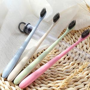 휴대용 여행 칫솔 밀 소프트 대나무 숯 칫솔 혀 클리너 무료 배송 임의의 색상 300pcs YYA398