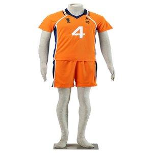 Envío gratuito de alta calidad COS Haikyuu !! Valleyball Jersey Hinata Syouyou NO 4 Disfraz de Cosplay Halloween Chrismas Personalizar