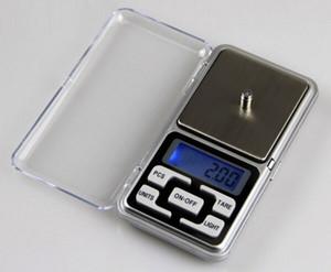 NOVA Luz de Fundo 200g 100g / 0.01g pequeno Bolso Balanças Eletrônicas de Jóias Digital de Medicina Pesando Equilíbrio Da Cozinha PARA o negócio