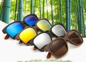 2017 خمر يستقطب معطف نظارات الرجال النساء نظارات شمس uv400 النظارات الكلاسيكية نظارات goggles سائق ظلال الخشب الإطار b639
