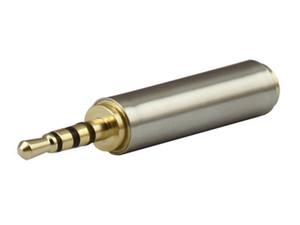 Brand new ouro 2.5 mm macho para 3.5 mm fêmea de áudio estéreo plug adapter converter jack de fone de ouvido