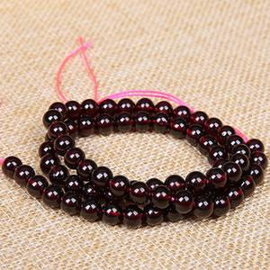 Perline di granato naturale di alta qualità vino colore rosso granato perline di pietra accessori fai da te per monili che fanno 4mm 5mm 6mm 7mm 8mm