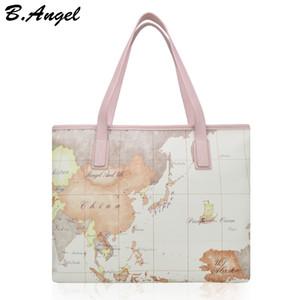 Haute qualité mode carte du monde femmes grand fourre-tout sac à main spécial marque designer sac casual sac à bandoulière HC-W-878