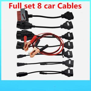Câbles OBD2 pour outil d'interface de diagnostic de câbles de voitures de TCS CDP Pro Ensemble complet 8 câbles de voiture CDP gratuit ds150e Scanner