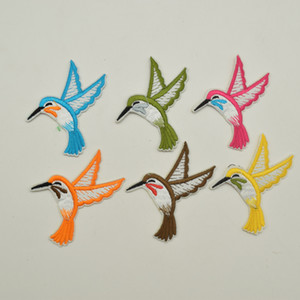 60ps Embroidered DIY Small Design Applique Patch For Patches 6colors On On Sew Iron Craft Bird Tqcms