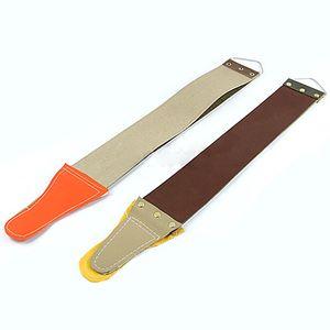 Atacado-2015 Novo Estilo 2015 Hot Leather Sharpening Lona Strop Barber Abrir reta Barbear Afiar Shave