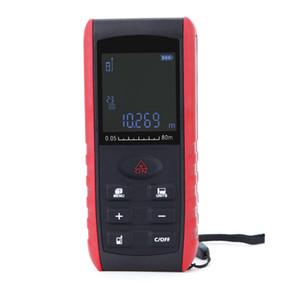 by dhl fedex 10pcs lot Portable Digital 80m level Distance Handheld Laser rangefinder Range Finder Tape Measure Area Volume