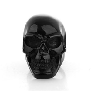 Newest Coming Gothic Men's Biker Stainless Steel Ring Fashion Hip Hop Style Men Jewelry Black Colorful Skull Cool Man Skulls Finger Rings