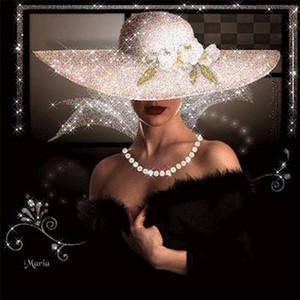 Nuovo diamante ricamo cappello bellezza 5D fai da te diamante pittura cristallo mosaico modello pieno quadrato strass punto croce decorazioni per la casa