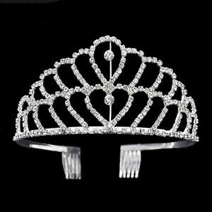 Corona de lujo Brillante Crystal Bridal Tiara Party Pageant plateado coronas de la boda Hairband accesorios baratos de la boda del pelo de Tiaras 2017