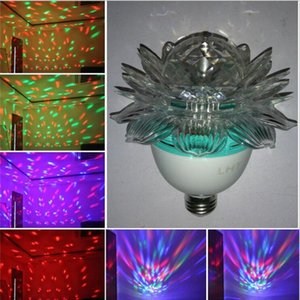 3 W LED Lotus Effects Lights Rotating Magic Crystal Ball Lamp 3W E27 RGB Laser Light For Party Disco DJ Bar