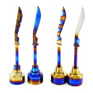 DHL livre Bongos De Vidro Titanium Nails Carb Cap Rainbow Ti Prego dabber 18mm carb cap para fumar tubulação De Água de vidro Plataformas De Petróleo