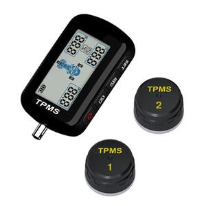 Carro M10E TPMS Sistema de Monitor de Pressão Dos Pneus Da Motocicleta À Prova D 'Água 2 Sensor Externo Display LCD Sem Fio Motocicleta Ferramentas
