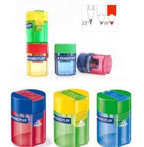 Staedtler Afilador de bañera de doble orificio para lápices de grafito estándar y lápices de colores jumbo taille-crayons 2 usos