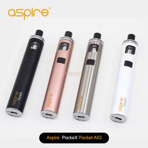 El kit todo en uno auténtico de Aspire PockeX Pocket AIO con una batería de 1500 mAh y 2 ml de Pockex Nautilus X Bobina .6ohm Envío Gratis