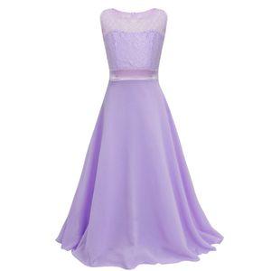 Lace Chiffon Flower Girl Dresses For Wedding 2018 Bateau Neck Party Gowns Floor Length Communion Dress