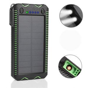 500000mAh WATERPROOF SOLAR قوة البنك شاحن بطارية خارجية SAMSUNG Iphone الهاتف الذكي