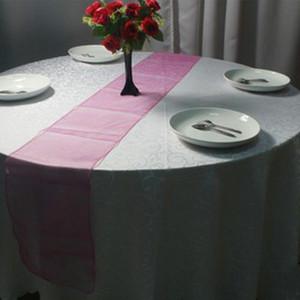 22 Renkler 30X275 cm Masa Koşucu Kumaş Düğün Dekor Yükseltilmiş Çiçek Çiçeği Akın Damask