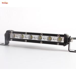 9 بوصة 18W led drl lightbar مصبغة ضوء للسيارة suv atv 4 * 4 دراجة نارية قارب 12 فولت 24 فولت