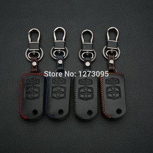 Ручной Сшитый Кожаный Чехол Для Ключей Автомобиля Mazda 2 Mazda 3 Mazda 5 Mazda 6 Mazda 8 4 Кнопки Складной Брелок Брелок