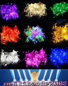 جديد نوعية جيدة! عيد الميلاد أدت سلسلة ضوء 100 قطع 9 ألوان 10 متر 100led عيد الميلاد أدى / عرس / حزب الديكور أضواء 110 فولت 220 فولت MYY119