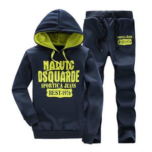 Vente en gros-Vêtements de sport jogger Survêtement marque vêtements homme, plus la taille M-XXXL XXXXL 5XL survêtement hommes 2016 hiver Hoodies