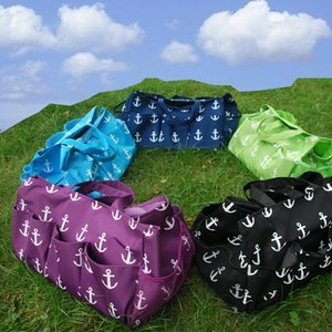 Large Size Anchor Garden Pocket Flower Pot Bag Tool Hanging Tote Utility Tote in 4 Colors DOM106306
