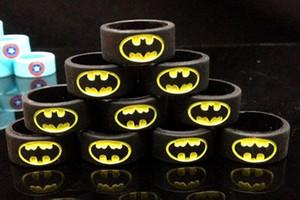 Superman Batman Flaş Kaptan Amerika ile ecig silikon halka vape bantları Logo rda rba rta tankı atomzier mod korumak için çeşitli renkler mod