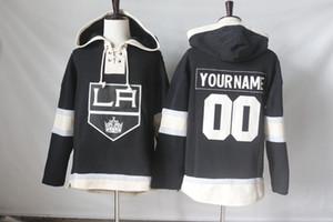 Los Angeles Kings Jerseys Blank 77 Jeff Jeffrey 73 Tyler Toffoli 99 Wayne Gretzky Hoodies Sweatshirts أي اسم وأي رقم شحن مجاني