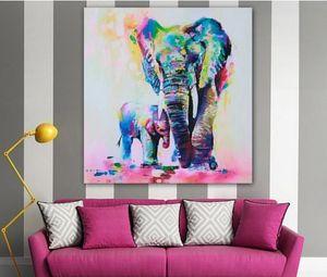 1PCS الفيل اللوحة اللوحة الزخرفية، النمط الأوروبي قماش مجردة النفط اللوحة، بدون إطار