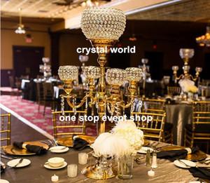 طويل القامة كريستال الشمعدانات الزجاج الكرة الزفاف المركزية المركزية 111123