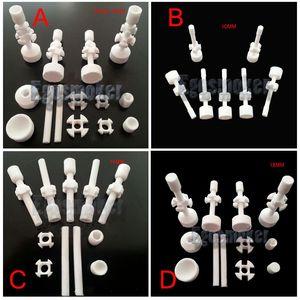Venta al por mayor 10 unids por lote uñas de cerámica 10 mm / 14 mm / 18 mm, 14 mm18 mm doble articulados uñas de cerámica ajustable VS uñas de uñas de titanio