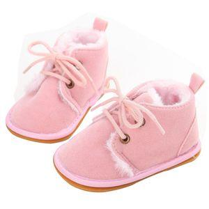 Wholesale- 2017 Newborn Boys Girls Lace-up Shoes Frist Walkers Infant Autumn Baby Warm Winter Shoes