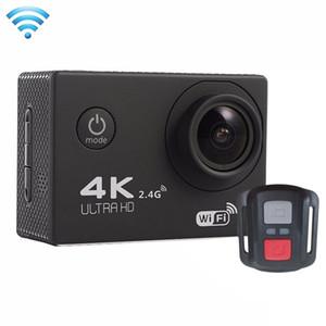 Freeshipping 2.0 인치 화면 4K 170 학위 와이드 앵글 WiFi 스포츠 액션 카메라 캠코더 방수 하우징 케이스 리모컨