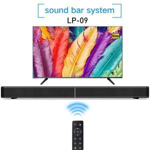 Soundbar LP-09 Bluetooth Speaker 2.0 Canal Com Fio e Sem Fio Bluetooth TV Soundbar Áudio 31.5 Polegada 40 W Subwoofer Embutido Controle Remoto