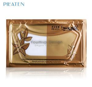 PILATEN Crystal Collagen Neck Mask Frauen Anti-Aging Anti-Falten Whitening feuchtigkeitsspendende Hyaluronsäure Maske Pilaten Nackenmaske + Geschenk